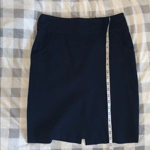 Banana Republic Navy Stretch Skirt